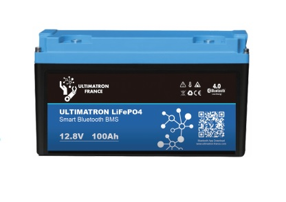 batterie lithium ultimatron lifepo4 smart bms 12.8v 100ah